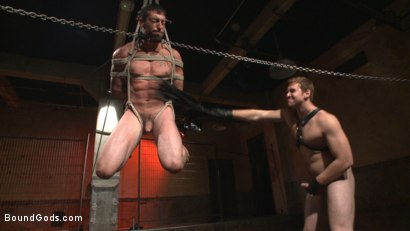 Photo number 11 from Casey More's Birthday Surprise shot for Bound Gods on Kink.com. Featuring Casey More and Connor Maguire in hardcore BDSM & Fetish porn.