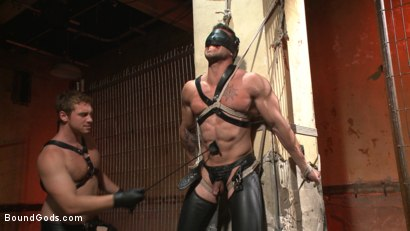 Photo number 2 from Casey More's Birthday Surprise shot for Bound Gods on Kink.com. Featuring Casey More and Connor Maguire in hardcore BDSM & Fetish porn.