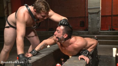 Photo number 7 from Casey More's Birthday Surprise shot for Bound Gods on Kink.com. Featuring Casey More and Connor Maguire in hardcore BDSM & Fetish porn.