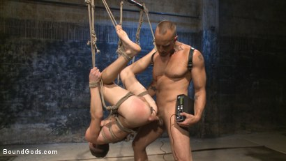 Photo number 10 from BDSM Virgin tormented with electricity and fucked in suspension shot for Bound Gods on Kink.com. Featuring Jessie Colter and Shawn Andrews in hardcore BDSM & Fetish porn.