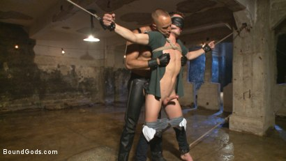 Photo number 2 from BDSM Virgin tormented with electricity and fucked in suspension shot for Bound Gods on Kink.com. Featuring Jessie Colter and Shawn Andrews in hardcore BDSM & Fetish porn.