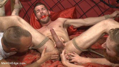 Photo number 10 from Ripped stud has his cock relentlessly edged after losing strip poker shot for Men On Edge on Kink.com. Featuring Tryp Bates in hardcore BDSM & Fetish porn.