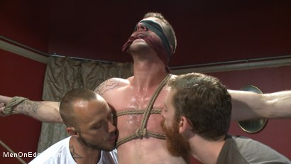 Photo number 3 from Ripped stud has his cock relentlessly edged after losing strip poker shot for Men On Edge on Kink.com. Featuring Tryp Bates in hardcore BDSM & Fetish porn.