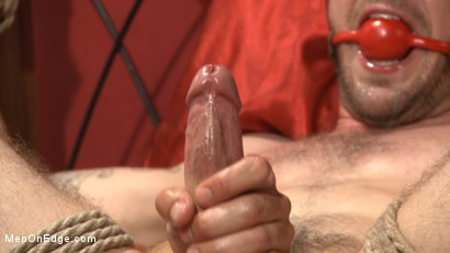 Photo number 12 from Ripped stud has his cock relentlessly edged after losing strip poker shot for Men On Edge on Kink.com. Featuring Tryp Bates in hardcore BDSM & Fetish porn.