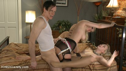 Photo number 20 from How to Have a Threesome (Two Females, One Male) shot for Kink University on Kink.com. Featuring Samantha Rone, Danarama and Cherry Torn in hardcore BDSM & Fetish porn.