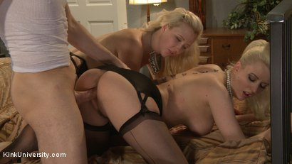Photo number 5 from How to Have a Threesome (Two Females, One Male) shot for Kink University on Kink.com. Featuring Samantha Rone, Danarama and Cherry Torn in hardcore BDSM & Fetish porn.