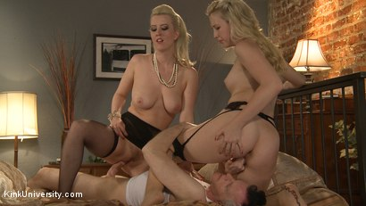 Photo number 12 from How to Have a Threesome (Two Females, One Male) shot for Kink University on Kink.com. Featuring Samantha Rone, Danarama and Cherry Torn in hardcore BDSM & Fetish porn.