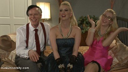 Photo number 2 from How to Have a Threesome (Two Females, One Male) shot for Kink University on Kink.com. Featuring Samantha Rone, Danarama and Cherry Torn in hardcore BDSM & Fetish porn.