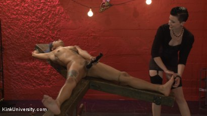 Photo number 12 from Tickling: From Teasing to Torment shot for Kink University on Kink.com. Featuring Jessica Creepshow and Mistress Shae Flanigan in hardcore BDSM & Fetish porn.