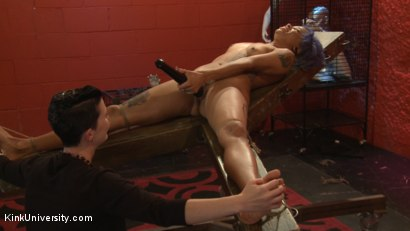 Photo number 17 from Tickling: From Teasing to Torment shot for Kink University on Kink.com. Featuring Jessica Creepshow and Mistress Shae Flanigan in hardcore BDSM & Fetish porn.