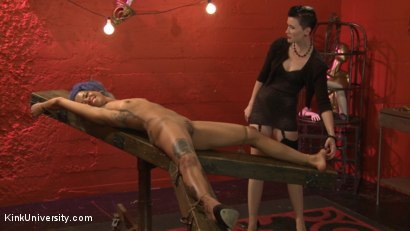 Photo number 4 from Tickling: From Teasing to Torment shot for Kink University on Kink.com. Featuring Jessica Creepshow and Mistress Shae Flanigan in hardcore BDSM & Fetish porn.