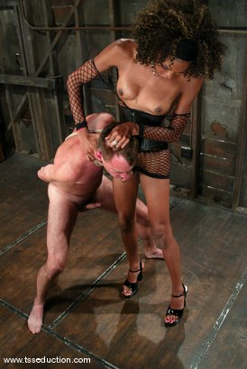 Photo number 6 from Wild Bill and Mistress Soleli shot for TS Seduction on Kink.com. Featuring Wild Bill and Mistress Soleli in hardcore BDSM & Fetish porn.