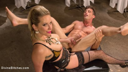 Photo number 5 from Simple Pleasures: A Femdom Surrealist Fantasy shot for Divine Bitches on Kink.com. Featuring Lance Hart and Maitresse Madeline Marlowe in hardcore BDSM & Fetish porn.