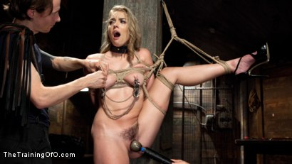 Photo number 12 from Hot Blonde Pussy Pounded: Day One shot for The Training Of O on Kink.com. Featuring Keira Nicole and Owen Gray in hardcore BDSM & Fetish porn.
