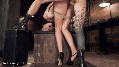 Photo number 9 from Hot Blonde Pussy Pounded: Day One shot for The Training Of O on Kink.com. Featuring Keira Nicole and Owen Gray in hardcore BDSM & Fetish porn.