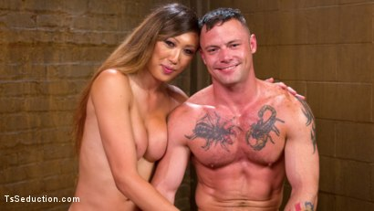 Photo number 5 from Mistress Venus Lux and Her Dominating Cock! shot for TS Seduction on Kink.com. Featuring Sergeant Miles and Venus Lux in hardcore BDSM & Fetish porn.
