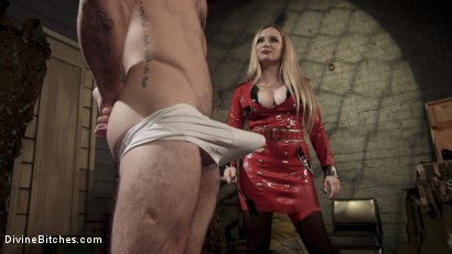 Photo number 4 from Aiden Starr Dominates Sexy Military Hard Ass shot for Divine Bitches on Kink.com. Featuring Aiden Starr and Sergeant Miles in hardcore BDSM & Fetish porn.