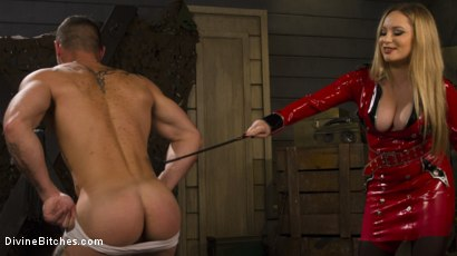 Photo number 2 from Aiden Starr Dominates Sexy Military Hard Ass shot for Divine Bitches on Kink.com. Featuring Aiden Starr and Sergeant Miles in hardcore BDSM & Fetish porn.