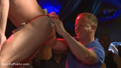 Photo number 1 from Horny bar patrons have fun with the hot go-go dancer for SF Pride! shot for Bound in Public on Kink.com. Featuring Trenton Ducati, Jessie Colter and Alexander Gustavo in hardcore BDSM & Fetish porn.