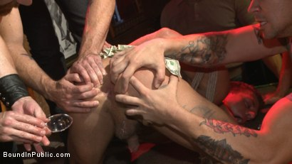 Photo number 5 from Horny bar patrons have fun with the hot go-go dancer for SF Pride! shot for Bound in Public on Kink.com. Featuring Trenton Ducati, Jessie Colter and Alexander Gustavo in hardcore BDSM & Fetish porn.