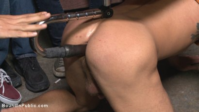 Photo number 2 from Go-go dancer serves his bar with mouth & ass for SF Pride shot for Bound in Public on Kink.com. Featuring Trenton Ducati, Jessie Colter and Alexander Gustavo in hardcore BDSM & Fetish porn.