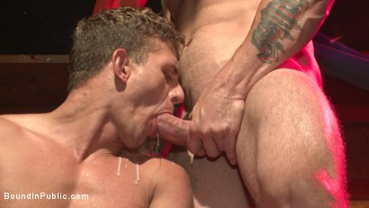 Photo number 14 from Go-go dancer serves his bar with mouth & ass for SF Pride shot for Bound in Public on Kink.com. Featuring Trenton Ducati, Jessie Colter and Alexander Gustavo in hardcore BDSM & Fetish porn.