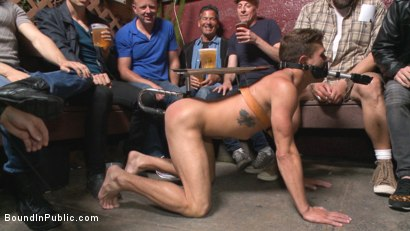 Photo number 1 from Go-go dancer serves his bar with mouth & ass for SF Pride shot for Bound in Public on Kink.com. Featuring Trenton Ducati, Jessie Colter and Alexander Gustavo in hardcore BDSM & Fetish porn.