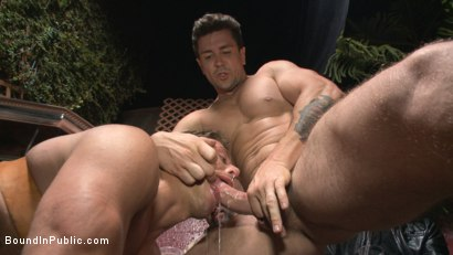 Photo number 6 from Go-go dancer serves his bar with mouth & ass for SF Pride shot for Bound in Public on Kink.com. Featuring Trenton Ducati, Jessie Colter and Alexander Gustavo in hardcore BDSM & Fetish porn.