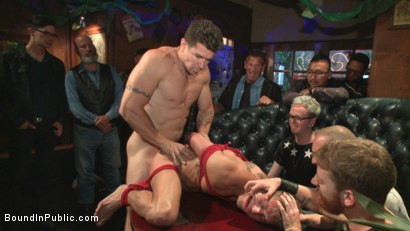 Photo number 12 from Go-go dancer serves his bar with mouth & ass for SF Pride shot for Bound in Public on Kink.com. Featuring Trenton Ducati, Jessie Colter and Alexander Gustavo in hardcore BDSM & Fetish porn.