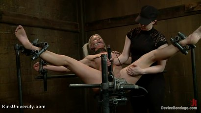 Photo number 15 from Deep Inside: Device Bondage (Behind the Scenes) shot for Kink University on Kink.com. Featuring Holly Heart in hardcore BDSM & Fetish porn.