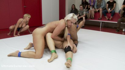 Photo number 11 from Darling takes on Penny in a 2 on 2 tag match for the last time shot for Ultimate Surrender on Kink.com. Featuring Penny Barber, Dee Williams, Jayogen, Daisy Ducati, Lisa Tiffian and Holly Heart in hardcore BDSM & Fetish porn.