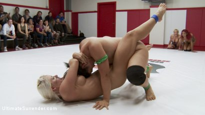 Photo number 12 from Darling takes on Penny in a 2 on 2 tag match for the last time shot for Ultimate Surrender on Kink.com. Featuring Penny Barber, Dee Williams, Jayogen, Daisy Ducati, Lisa Tiffian and Holly Heart in hardcore BDSM & Fetish porn.