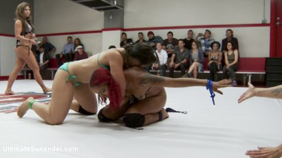 Photo number 15 from Darling takes on Penny in a 2 on 2 tag match for the last time shot for Ultimate Surrender on Kink.com. Featuring Penny Barber, Dee Williams, Jayogen, Daisy Ducati, Lisa Tiffian and Holly Heart in hardcore BDSM & Fetish porn.