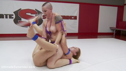 Photo number 14 from Semi Finals, Summer Vengeance, Winner moves on to finals and takes ass shot for Ultimate Surrender on Kink.com. Featuring Mistress Kara and Cheyenne Jewel in hardcore BDSM & Fetish porn.