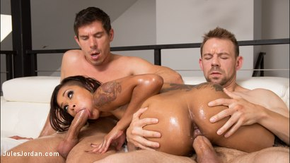 Photo number 9 from Skin Diamond Oiled Up And Ready For Double Penetration shot for Jules Jordan on Kink.com. Featuring Skin Diamond in hardcore BDSM & Fetish porn.