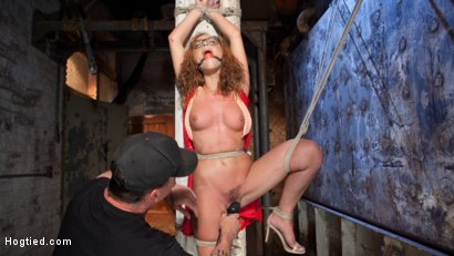 Photo number 8 from Brutal Ecstasy in Extreme Bondage shot for Hogtied on Kink.com. Featuring Roxanne Rae and The Pope in hardcore BDSM & Fetish porn.