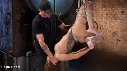 Photo number 15 from Brutal Ecstasy in Extreme Bondage shot for Hogtied on Kink.com. Featuring Roxanne Rae and The Pope in hardcore BDSM & Fetish porn.