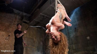 Photo number 2 from Brutal Ecstasy in Extreme Bondage shot for Hogtied on Kink.com. Featuring Roxanne Rae and The Pope in hardcore BDSM & Fetish porn.
