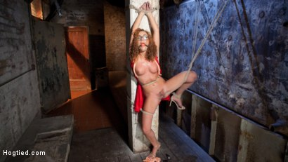 Photo number 6 from Brutal Ecstasy in Extreme Bondage shot for Hogtied on Kink.com. Featuring Roxanne Rae and The Pope in hardcore BDSM & Fetish porn.
