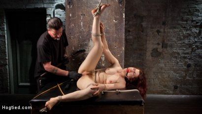 Photo number 14 from Sexy Pain Slut in Extreme Bondage, Tormented, Punished, and Made to Cum Against Her Will shot for Hogtied on Kink.com. Featuring Ingrid Mouth and The Pope in hardcore BDSM & Fetish porn.