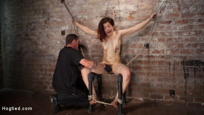 Photo number 6 from Sexy Pain Slut in Extreme Bondage, Tormented, Punished, and Made to Cum Against Her Will shot for Hogtied on Kink.com. Featuring Ingrid Mouth and The Pope in hardcore BDSM & Fetish porn.