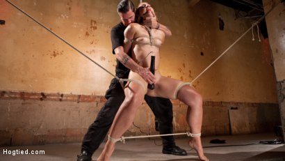 Photo number 1 from Rope Slut Begs to Suffer in Extreme Bondage shot for Hogtied on Kink.com. Featuring Dylan Ryan and The Pope in hardcore BDSM & Fetish porn.