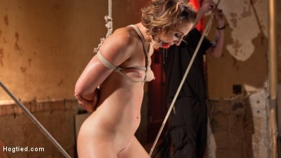 Photo number 14 from Rope Slut Begs to Suffer in Extreme Bondage shot for Hogtied on Kink.com. Featuring Dylan Ryan and The Pope in hardcore BDSM & Fetish porn.
