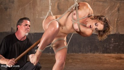 Photo number 2 from Rope Slut Begs to Suffer in Extreme Bondage shot for Hogtied on Kink.com. Featuring Dylan Ryan and The Pope in hardcore BDSM & Fetish porn.