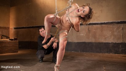Photo number 4 from Rope Slut Begs to Suffer in Extreme Bondage shot for Hogtied on Kink.com. Featuring Dylan Ryan and The Pope in hardcore BDSM & Fetish porn.