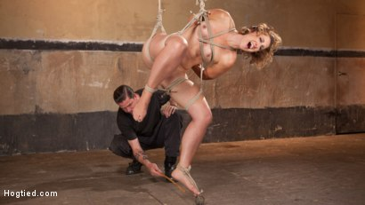 Photo number 5 from Rope Slut Begs to Suffer in Extreme Bondage shot for Hogtied on Kink.com. Featuring Dylan Ryan and The Pope in hardcore BDSM & Fetish porn.