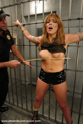 Photo number 2 from Repeated Offender shot for Sex And Submission on Kink.com. Featuring Steven St. Croix and Lorena Sanchez in hardcore BDSM & Fetish porn.