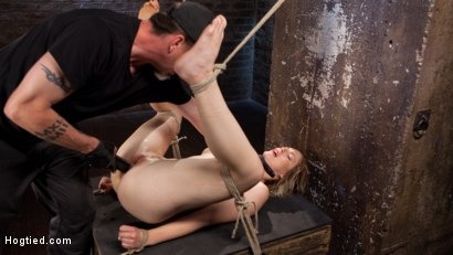 Photo number 9 from Maximum Capacity in Extreme Predicament Bondage shot for Hogtied on Kink.com. Featuring Ella Nova  and The Pope in hardcore BDSM & Fetish porn.