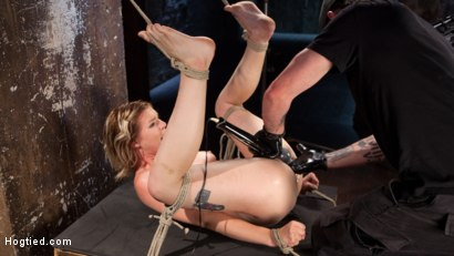 Photo number 14 from Maximum Capacity in Extreme Predicament Bondage shot for Hogtied on Kink.com. Featuring Ella Nova  and The Pope in hardcore BDSM & Fetish porn.