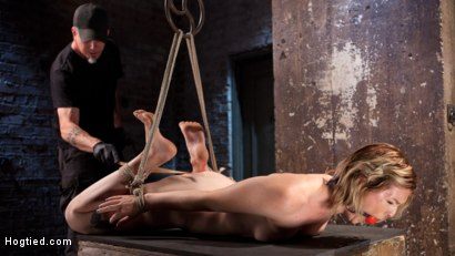 Photo number 11 from Maximum Capacity in Extreme Predicament Bondage shot for Hogtied on Kink.com. Featuring Ella Nova  and The Pope in hardcore BDSM & Fetish porn.